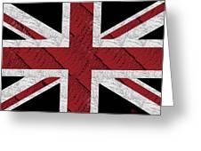 Union Jack Flag Deco Swing Greeting Card