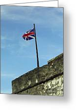 Union Jack Over The Castillo Greeting Card