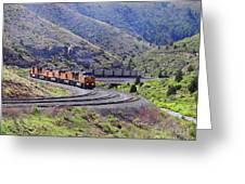 Union Pacific Coal Train In Kyune Utah Greeting Card