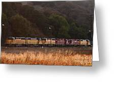Union Pacific Locomotive Trains . 7d10551 Greeting Card