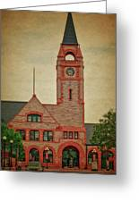 Union Pacific Railroad Depot Cheyenne Wyoming 01 Textured Greeting Card
