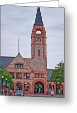 Union Pacific Railroad Depot Cheyenne Wyoming 01 Greeting Card