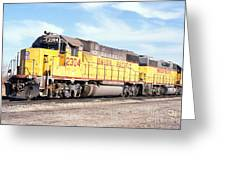 Union Pacific Up - Railimages@aol.com Greeting Card