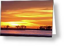 Union Reservoir Sunrise Feb 17 2011 Canvas Print Greeting Card