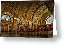 Union Station - Dc Greeting Card by Frank Garciarubio