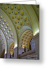 Union Station Ceiling Greeting Card