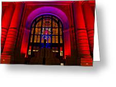 Union Station Decked Out For The Holidays Greeting Card