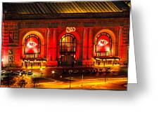 Union Station In Chiefs Red Greeting Card