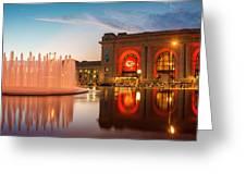 Union Station Kansas City Chiefs Greeting Card