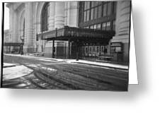Union Station Kansas City In The Snow Greeting Card