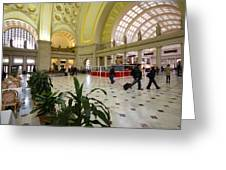 Union Station Main Hall And Waiting Room Greeting Card