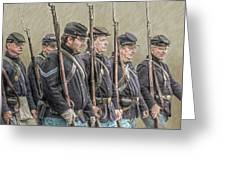 Union Veteran Soldiers Parade  Greeting Card