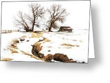 Uniontown Snow Scene Greeting Card