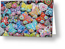 Unique Colorful Honey Cookies , Butterfly Shaped  Greeting Card