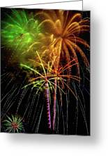 Unique Fireworks Greeting Card