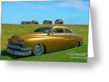 Unique Gold Street Rod Greeting Card