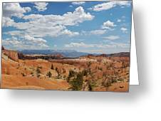 Unique Landscape Of Bryce Canyon Greeting Card