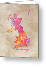 United Kingdom Map Greeting Card