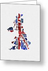 United Kingdom Typographic Kingdom Greeting Card