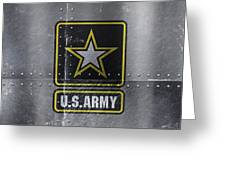 United States Army Logo On Steel Greeting Card