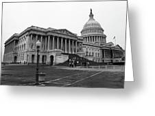 United States Capitol Building 2 Bw Greeting Card