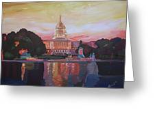 United States Capitol In Washington D.c. At Sunset Greeting Card
