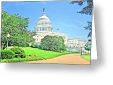 United States Capitol - Washington Dc Greeting Card