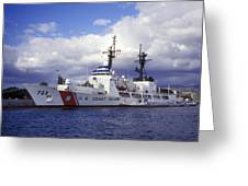United States Coast Guard Cutter Rush Greeting Card by Michael Wood