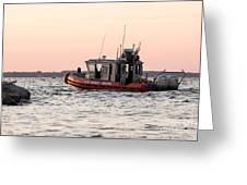United States Coast Guard Heading Out Greeting Card