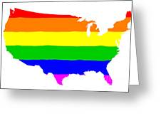 United States Gay Pride Flag Greeting Card