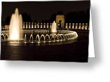 United States National World War II Memorial In Washington Dc Greeting Card