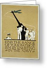 United States Navy Recruitment Poster From 1918 Greeting Card