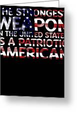 United States Patriotic American Greeting Card