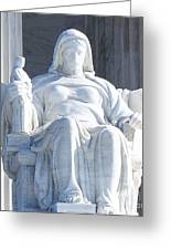 United States Supreme Court, The Contemplation Of Justice Statue, Washington, Dc 2 Greeting Card