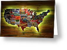 United States Wall Art Greeting Card