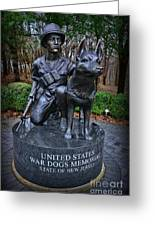 United States War Dog Memorial Greeting Card