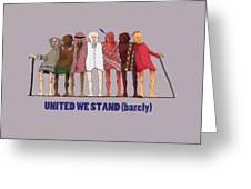 United We Stand Transparent Background Greeting Card