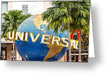Universal Studio Globe Greeting Card
