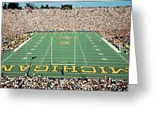University Of Michigan Stadium, Ann Greeting Card