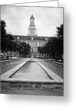 University Of North Texas Bw Greeting Card