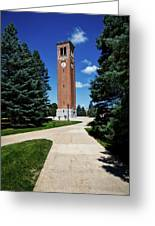 University Of Northern Iowa Bell Tower Greeting Card
