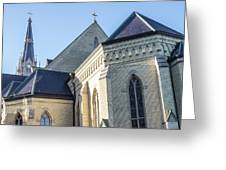 University Of Notre Dame Basilica  Greeting Card