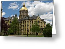 University Of Notre Dame Main Building 1879 Greeting Card