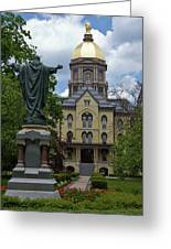 University Of Notre Dame Main Building Greeting Card