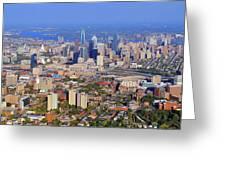 University Of Pennsylvania And Philadelphia Skyline Greeting Card by Duncan Pearson