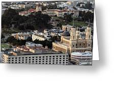 University Of San Francisco Aerial Photo Greeting Card