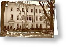 University Of South Carolina President's Residence In Sepia Tones Greeting Card