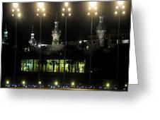University Of Tampa Lights Greeting Card