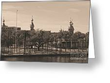 University Of Tampa With Old World Framing Greeting Card