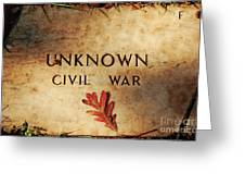 Unknown Civil War Greeting Card